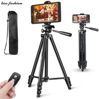 Phone Tripod,50 inch Extendable Lightweight Aluminum Tripod Stand with Universal Cell Phone/Tablet H