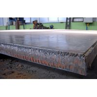 explosion-bonded clad plates