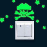 Pirate Glow Light Switch Wall Sticker thumbnail image
