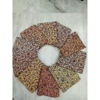 Kalamkari hand block cotton fabric