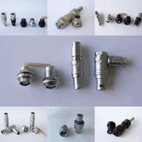 QM B series DFG fixed socket with cable clamp waterproof 12v multi pin metal push pull self-locking thumbnail image