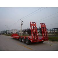 low bed semi-trailer/good quality low-bed semi trailer