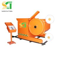 Diamond wire saw machine for quarrying and mining