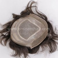 Fine Mono with PU Edge, Swiss Lace Front Stock Hair System thumbnail image