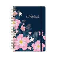 """Spiral Notebook - Lined Journal with Hardcover, 8.35"""" x 6.3"""", Strong Twin-Wire Binding"""
