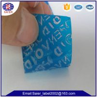 Non transfer Security Tamper Evident Void Sticker Tape