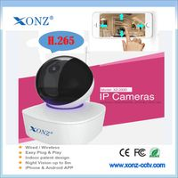 H.265 ip camera 1080P p2p 2 way audio IR cut Nightvision PT network camera
