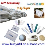 white/brown icumsa cane Sugar sachet for coffee/disposable coffee sugar stick thumbnail image