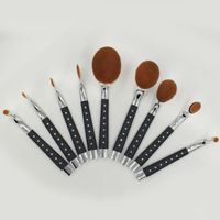Cheap 9pcs Black Diamond Handel Premium Personal Concealer Foundation Powder Blending Brushes Toothb