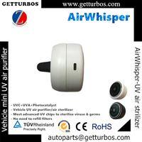 AirWhisper purifier odor TVOC disinfect germs for car vehicle-mini UVC UVA air sterilizer