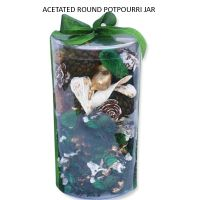ACETATED ROUND POTPOURRI JAR