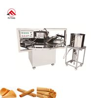Industrial Stainless Steel Kuih Kapit Roll Machine Sugar Egg Roll Maker Waffle Roll Baking Equipment thumbnail image