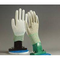 cheap flower print ployester liner coated white pu garden flowers safe work gloves