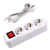 3 gang extension socket with switch
