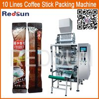 High speed automatic 3 in 1 coffee grain granule stick sachet packing packaging machine