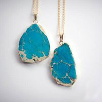 Fashion latest design necklace natural stone pendant necklace gold sweater chain