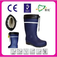 Dark Black Working Boots Security Mining Boots