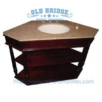new design vanity case with solid wood legs
