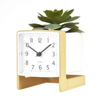 Classic Fashion Flower Table Clock Silent Desk Clock for Home