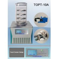 TOPT-10A lab benchtop mini vacuum freeze dryer for food, fruit and vegetable thumbnail image
