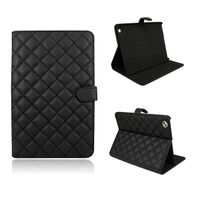 Black Rhombic Fashion Smart Leather Cover Case for iPad mini