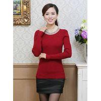 Fashion women knitted base shirt/bottoming shirt/long sleeve undershirt thumbnail image