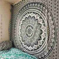 Large Mandala Indian Tapestry Wall Hanging Bohemian Beach Mat Polyester Thin Blanket Yoga Shawl Mat thumbnail image