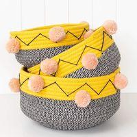 Maomao decorative cotton rope basket ball. Cotton rope basket, cotton rope laundry basket thumbnail image