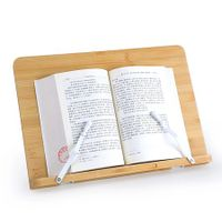 Wholesale bamboo wooden book stand holder portable and foldable book reading stand holder