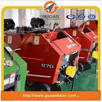 Self-tying mini round baler for Rice straw
