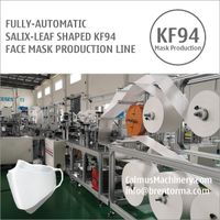 Fully-automatic Korean KF94 Salix-Leaf Mask Machine Production Line