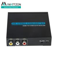 Mattzon 4K MINI HDMI TO AV Converter support zoom, up-scaler and down-scaler,with audio 3.5mm stereo thumbnail image