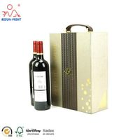 Double Door Opened Whisky Bottles Packaging Box With Blister Tray thumbnail image