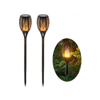 Solar garden light solar led flood light outdoor solar flame flickering light