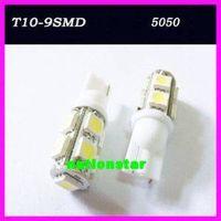 2x 194 168 501 T10 9-SMD White 5050 LED Car Light Bulb
