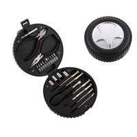 Factory Price 24 Piece General Purpose Tool Kit In Car Wheel Shape Case thumbnail image