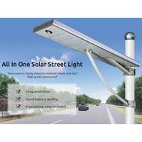 90W All in One Solar Street Lighting System,IP65 Waterproof PIR Motion Sensor Pathway Light thumbnail image