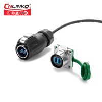 Zinc Alloy Material Fiber Optical Male Female Connector IP65/IP67 Waterproof Wiring Connector