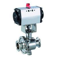 stainless steel sanitary pneumatic ball valve thumbnail image