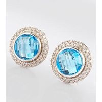 Sterling Silver Inspired DY10mm Blue Topaz Cerise Earrings thumbnail image