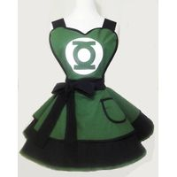 Super Hero Justice league Green Lantern 100% cotton sexy woman cosplay retro apron