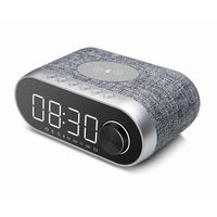 Wireless Charger Clock Bluetooth Speaker LED Display Alarm Clock Speaker