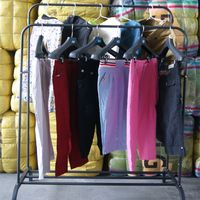 China Factory Wholesale Used Clothes Bales Ladies 3/4 Cotton Pants