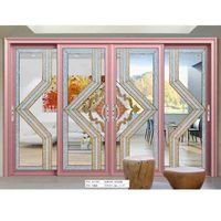 sound insulation patio sliding aluminium door with double-glazing glass