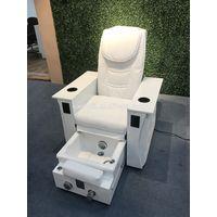 Pure White Color Salon Chair Foldable Nail Spa Pedicure Chair thumbnail image