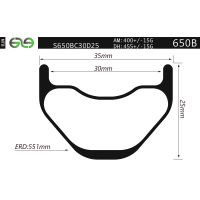 S650BC30D25 27.5 inch bicycle rim, 35mm wide rims wider, all mountain downhill cycling free to ride thumbnail image
