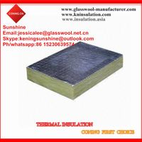 Heat insulation rock wool price/rock wool with aluminum foil thumbnail image