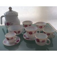 Cup Saucers Set Opal Glassware