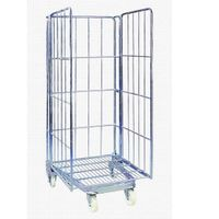Foldable Steel Wire Movable Roll Container Cage