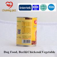 Company-wide Quality Assuranced Dog Canned Food